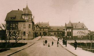 Blick auf Zörbiger Bahnhof um 1910