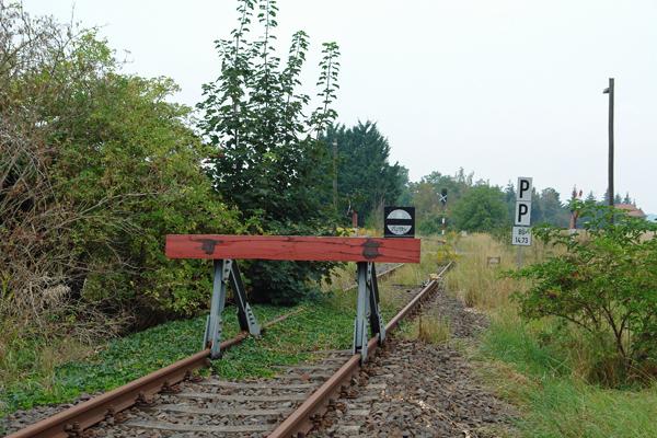 Übergang in Nebenanschlußbahn