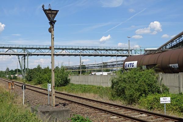 Grenze Anschlussbahn ZIG