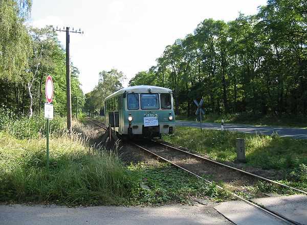 Zwischen Sandersdorf und Heideloh ist der 772 179 als RB 37481 unterwegs.