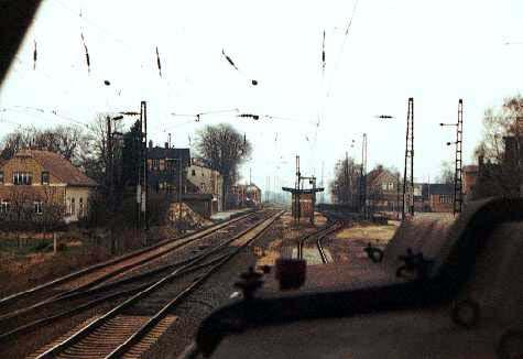 Einfahrt in den Endbahnhof Stumsdorf.