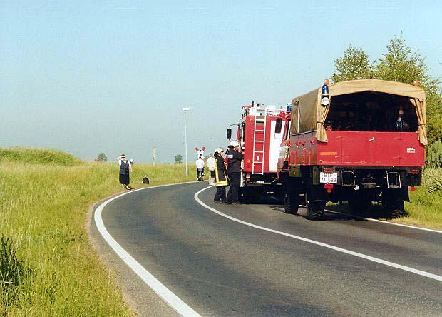 Für die Zörbiger Feuerwehr war es nichts neues. Schon öfters krachte es an den Bahnübergängen um Zörbig.