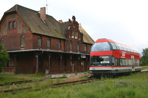 Auf der Dessau - Wörlitzer Eisenbahn war Triebwgen