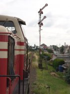 Einfahrt Bahnhof Aken/E.