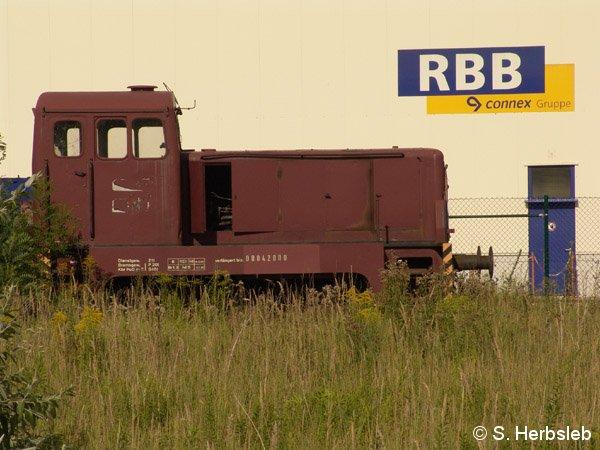 Nicht mehr einsatztauglich schien die zweite V22 der RBB. Einige Teile waren am 31. Juli 2005 bereits demontiert.