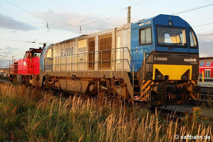 Am frühen Abend des 07.10.2006 warten die G1206 und G2000 im Bahnhof Bittefeld auf weitere Einsätze.