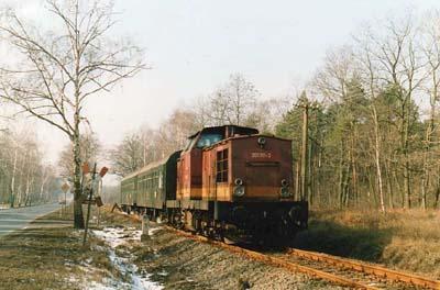 Auch nach der politischen Wende, bildeten die Diesellokomotiven der BR V100 das Rückrad im Reisezugverkehr. Auch waren sie im Güterverkehr zu beobachten.