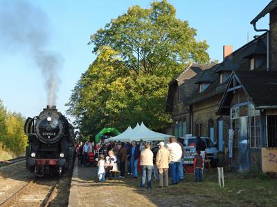Groß gefeiert wurde das Jubiläum auf dem Bahnhof in Zörbig.