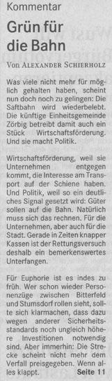 Mitteldeutsche Zeitung Bitterfeld, Ausgabe 06.05.2004