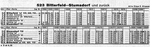 Sommerfahrplan der vom 3. Juni bis 29. September 1973 gültig war.