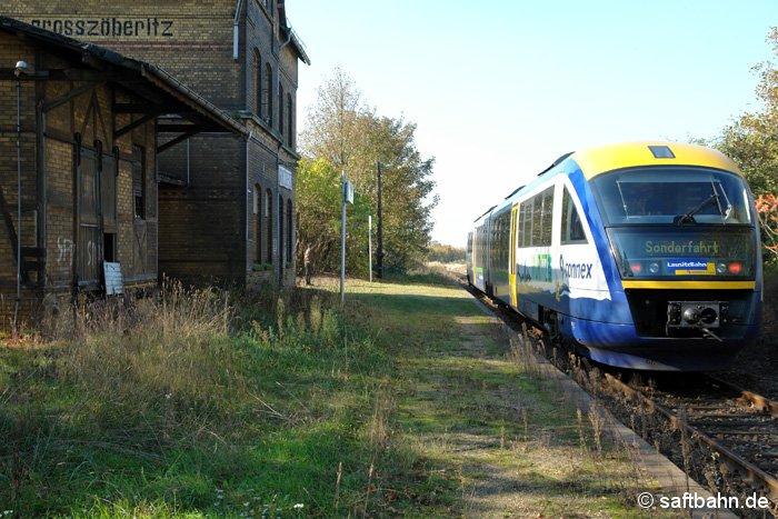 Im Rahmen einer nichtöffentlichen Sonderfahrt gelangte am 25. Oktober 2006 ein Desiro-Triebwagen der Lausitzbahn auf die