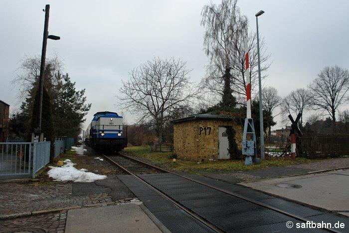 Einen Leergetreidezug holte am Mittag des 26.01.2009 die Lok 1401 der D&D Eisenbahngesellschaft im Bahnhof von Zörbig ab, welcher dort für mehrere Tage abgestellt war.